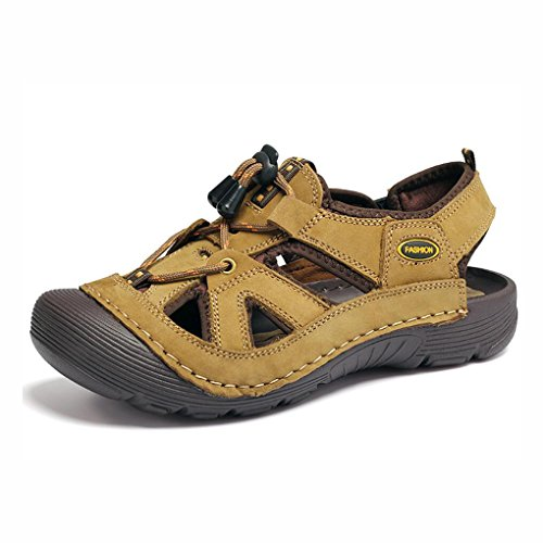 vadeo Aire Playa Hombres Punta Playa de Sandalias Verano al para Senderismo YaXuan Cerrada de Zapatos Caminata de Cuero los de Zapatos Deportes Libre de de Hombre UN Sandalias de Trekking de de qxw07FR
