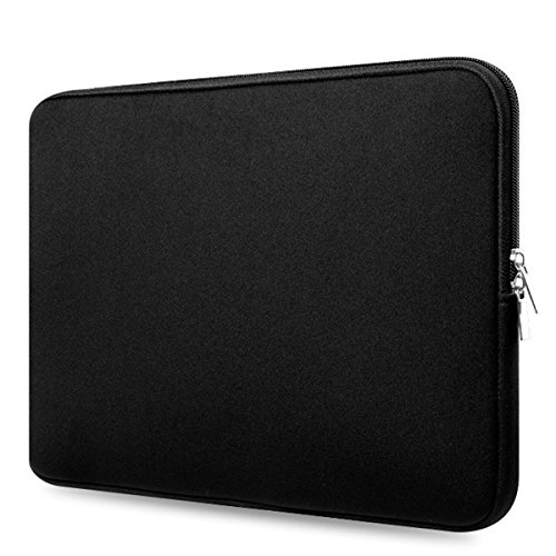 Jiele Laptop Case Sleeve Bag 14-15.6 Inch Laptop Sleeve Multi-Size Choices,Water Resistant 360° Shock-Proof Used for MacBook Air/Notebook Computer/Tablet PC/Ultrabook(Black) (15.6inch)