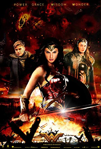 Wonder Woman Movie Fabric Cloth Rolled Wall Poster Print --