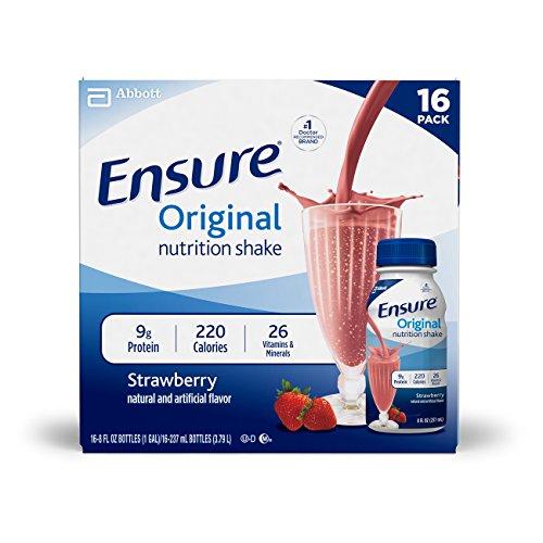 Ensure Original Strawberry Nutrition Shake, 8 fl oz, 16 count