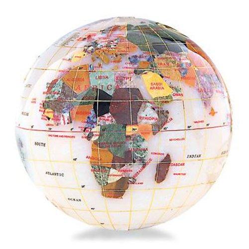 ALEXANDER KALIFANO KALIFANO KALIFANO Edelstein Globus Briefbeschwerer mit Opalit Ocean Farbe  Opal, Größe  10,2 cm B000Q06LWU | Günstige Bestellung  31fb19
