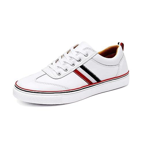 Los Hombres Mocasines de Cuero Suave Zapatos Casuales Hombres Blancos Zapatos: Amazon.es: Zapatos y complementos