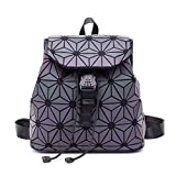 Geometric Backpack Fashion Backpacks Shard Lattice Luminous Bag Holographic Reflective Travel Rucksack NO.6