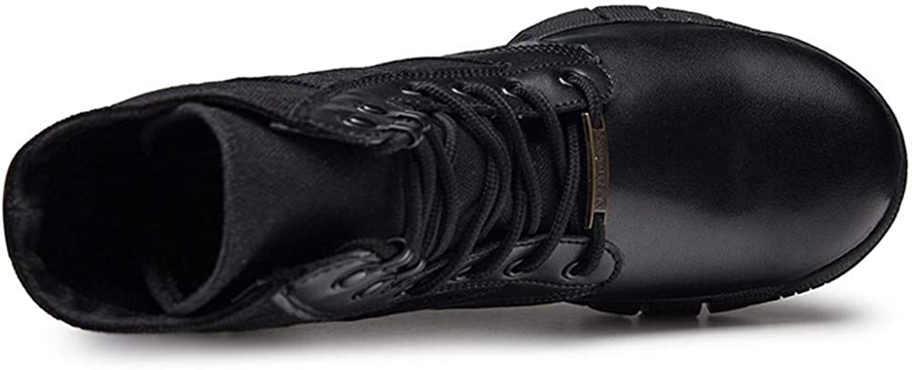 GHC Oxford Commerciali, Combat Boots Outdoor for Gli Uomini, Lace up Suede Patchwork Militare Resistente all\'Usura Scarpe a Punta Arrotondata, Antiscivolo in Gomma Sole Hiking Boots Nero