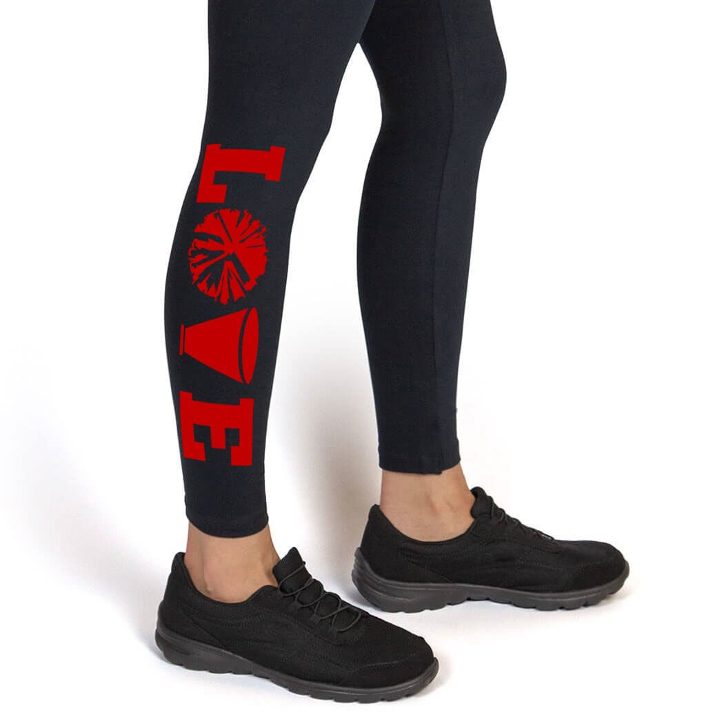 Love Leggings | Cheerleading Leggings by ChalkTalk SPORTS | Multiple Colors | Youth To Adult Sizes ch-00894
