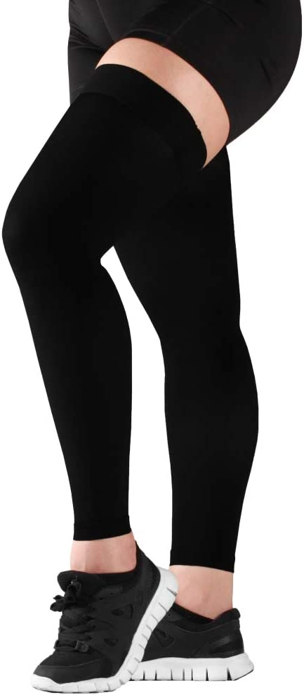 3XL Mojo Compression Stockings 20-30mmHg Thigh Leg Sleeve Firm Opaque Graduated Medical Support Hose Black XXXL