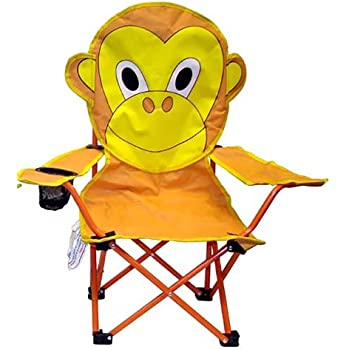Amazon Com Vmi Folding Chair For Kids Monkey Face