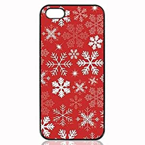 Red Snowflakes Pattern Custom Hard Plastic back cell Phones Case for Apple iphone5 - iphone 5s Case Cover