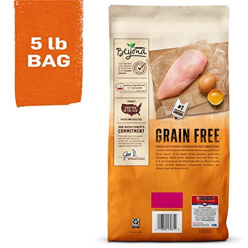 Purina Beyond Grain Free, Natural Dry Cat Food, Grain Free White Meat Chicken & Egg Recipe - 5 lb. Bag