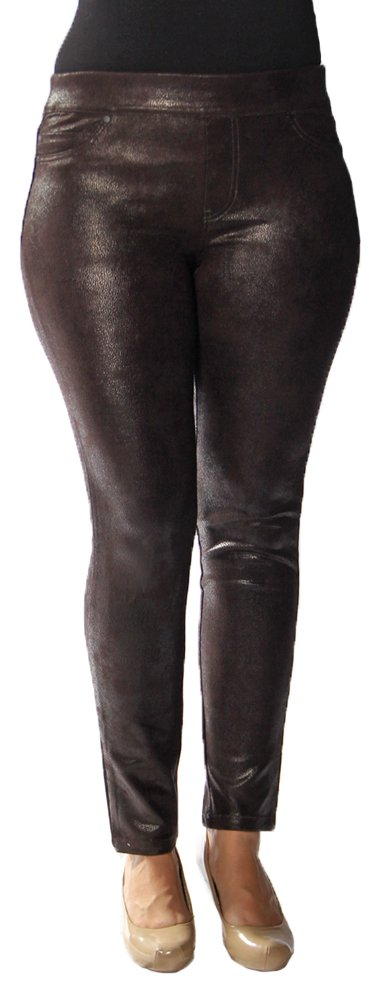Liverpool Jeans Company Women's Cordova Faux Suede Sienna Pull-On Legging, Hershey, 8 by Liverpool Jeans Company