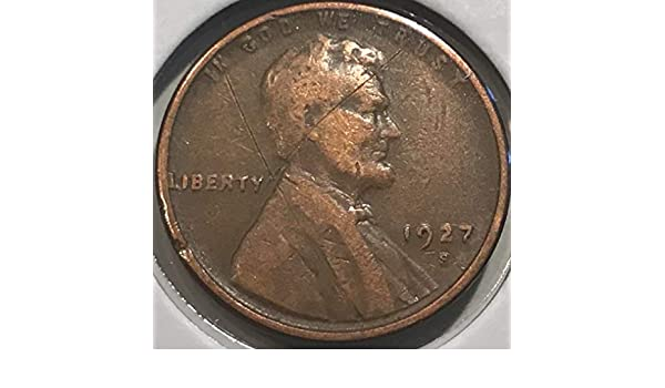 1927-S 1c Lincoln Wheat Cent Penny VF Very Fine