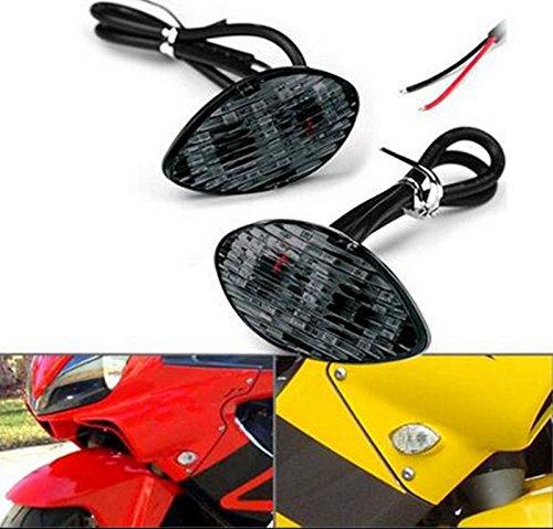 2x Amber LED Smoke Flush Mount Turn Signal Blinker Light For Honda CBR 600RR 600F4i 954RR 1000RR 2003-2011
