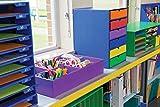 Classroom Keepers 30-Slot Mailbox, Blue