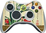 Hokusai Xbox 360 Wireless Controller Skin - Kingfisher, Iris and Pinks Vinyl Decal Skin For Your Xbox 360 Wireless Controller