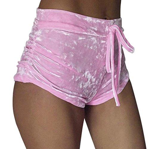 ❤️Shorts Femme, Amlaiworld Mode Femmes Velours Pantalons Courts Shorts Runner Casual Pantalons Tille Haute Hot Pants