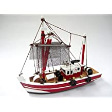 Fishing Magician Starter Boat Kit: Build Your Own Fishing Boat Wooden Model Ship by Tasma