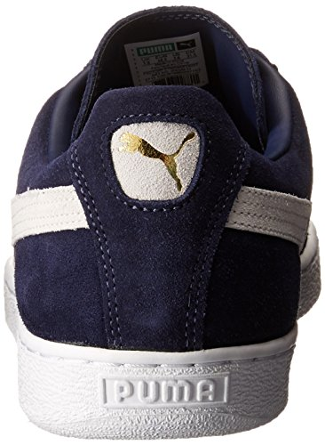 PUMA Men's Suede Classic + Sneaker, Peacoat/White, 9 M US Photo #16