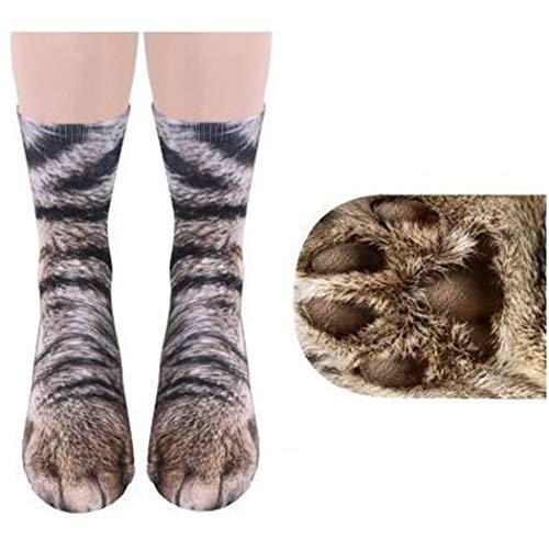 Dickin Animal Print Foot Hoof Paw Feet Socks Adult Child Digital Simulation Socks Casual Socks