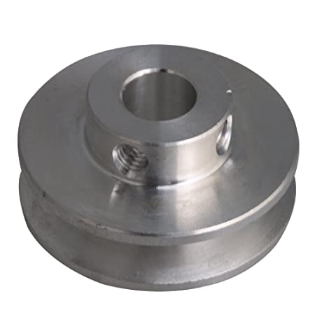 0.6cm Fixed Bore Single Groove V-shape Pulley for Motor Shaft 0.3-0.5cm PU Belts