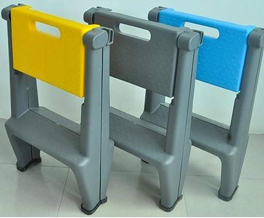 NICOLAS Lavado De Autos Taburete De Plástico Plegable para El Hogar Escalera Pequeña Multifunción Portátil Escalera De Dos O Dos Escalones Banco Interior Engrosamiento Escalera (Color : Blue): Amazon.es: Hogar
