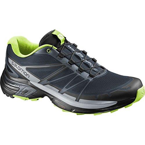 Salomon Men's Wings Pro 2 Running Shoes Slate Blue/Light Onyx/Granny Green  12.5