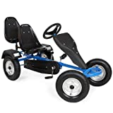 TecTake® Gokart Tretauto Go Kart Tretfahrzeug blau