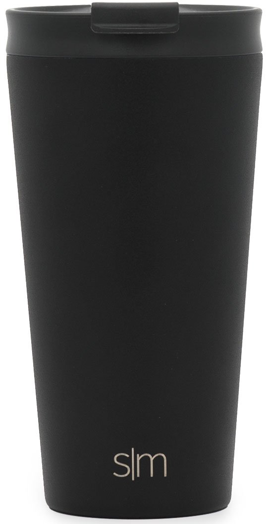 Simple Modern 16oz Classic Pint Tumbler Mug with Straw Lid and Flip Lid - Vacuum Insulated Beer Glasses Tumbler Flask 18/8 Stainless Steel Hydro Thermos Cup - Midnight Black by Simple Modern (Image #3)