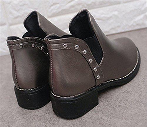 AILU Women's Chelsea Boots Silver 8qTICfL404