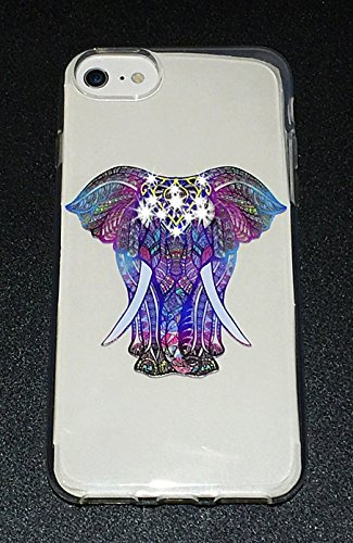 Exclusive Design (Elephant Series-U) Protective Slim Encrusted Swarovski Crystals Case for Apple iPhone 6, 6S, and 7