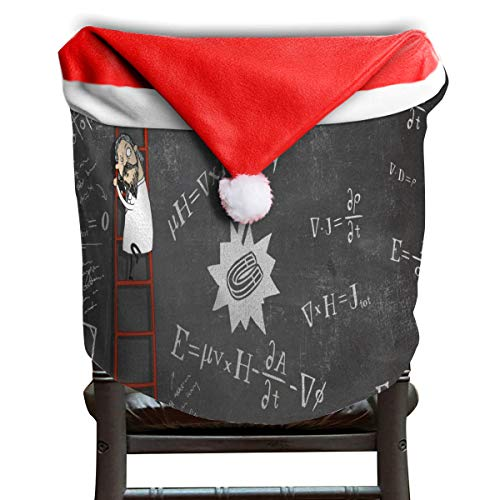(OuLian Christmas Hat Chair Covers Physics Chairs Back Cover Slipcovers Kitchen Sets for Party Decor)