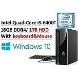 2017 Newest Flagship HP Slimline Premium Business Desktop, Intel Quad-Core i5-6400T up to 2.8GHz, 16GB DDR4, 1TB HDD, DVD Burner, Bluetooth 4.0, HDMI, WLAN, USB 3.0, Keyboard & Mouse, Win 10 (16GB)
