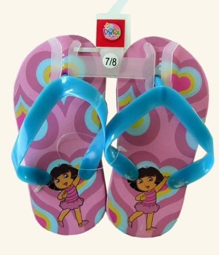 Blue and Pink Dora the Explorer Sandals (Size 5/6)- Size 5/6 Dora Shower