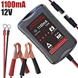 LST 12V 1.1Amp Automatic Battery Charger Maintainer Trickle Charger for Car Motorcycle Lawn