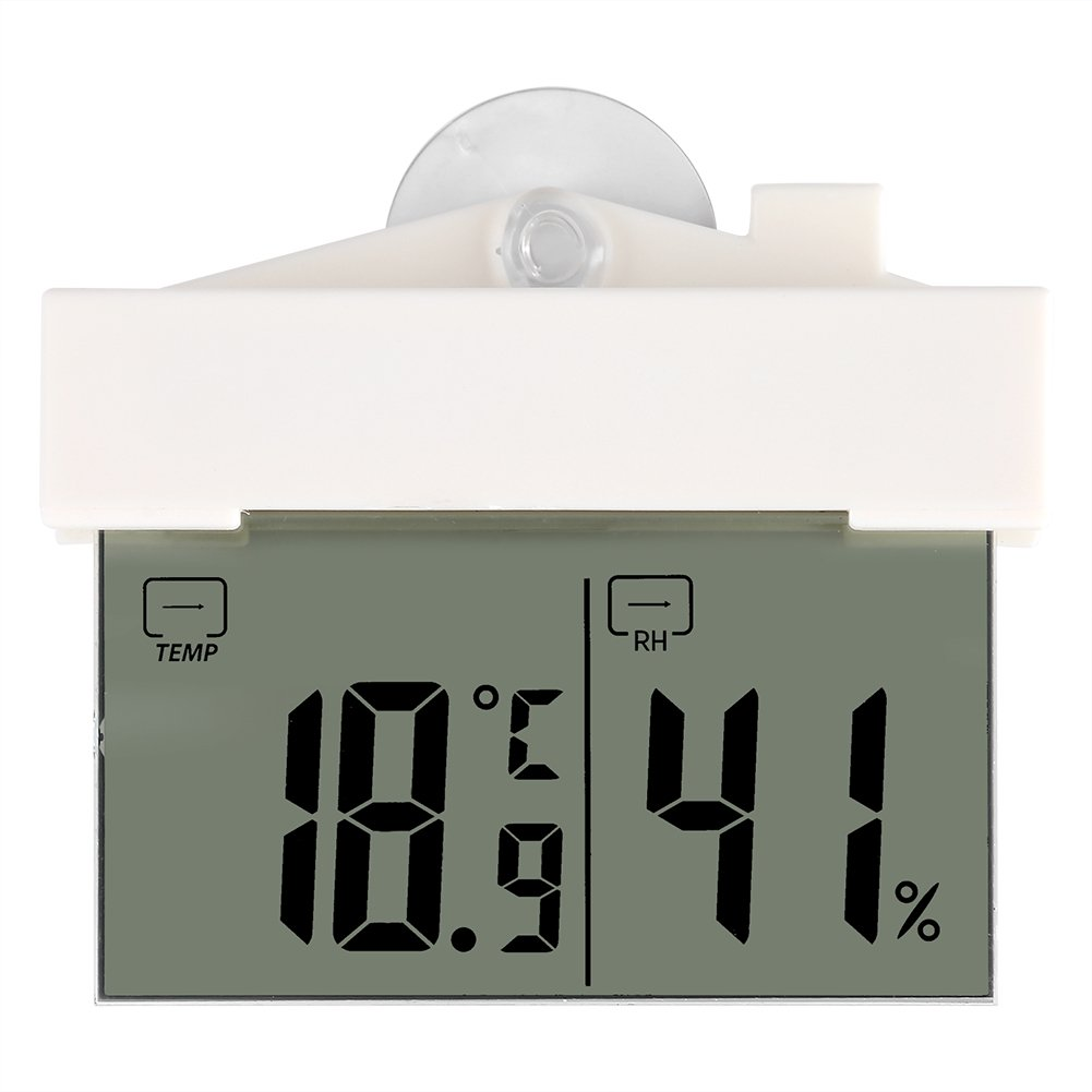 Zerodis Sucker Design LCD Digital Temperature Hygrometer Home Thermometer