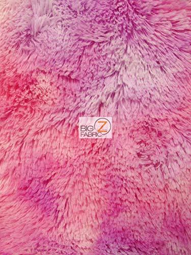 Hug-Z Minky Solid Shaggy Baby Soft Fabric by The Yard DIY Baby Blankets Decor Clothing Snuggle (Rainbow - Teddy Minky
