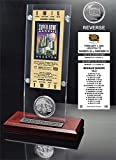 "The Highland Mint NFL New England Patriots Super Bowl 38 Ticket & Game Coin Collection, 12"" x 2"" x 5"", Black"