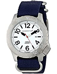 Momentum Mens 1M-DV74L7U Torpedo Stainless Steel Watch