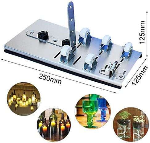 WZYJ Crafts Cutter Tool Kit - Round or Square, for DIY Stained Glass, Bottle Planters, Bottle Lamps, Candle Holders