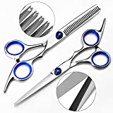 """Hair Scissors, Beyond Professional Hair Cutting Kits Thinning Shears Hairdressing Set, Stainless Steel Barber Texturizing Scissors, 6.9"""""""