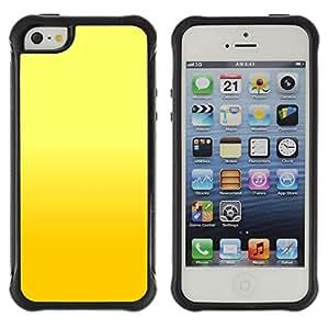 Pulsar Defender Series Tpu silicona Carcasa Funda Case para Apple iPhone 5 / iPhone 5S , Yellow background
