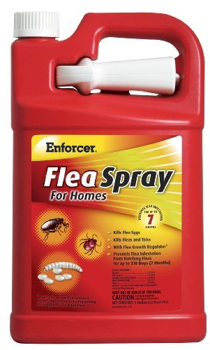Enforcer Flea Spray for Homes, 128-Ounce (Carpet Cleaner With Flea Killer)