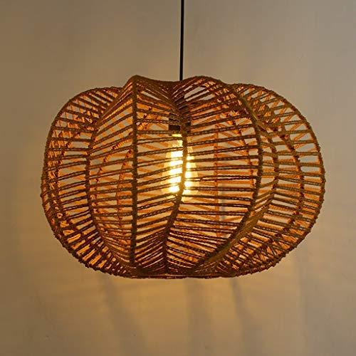 Rattan Vintage (CTO Ellie Chandelier - Vintage Rattan Handmade Hemp Rope, Creative Restaurant Cafe Tea Room Ceiling Lamp, Indoor Lighting,30cm)