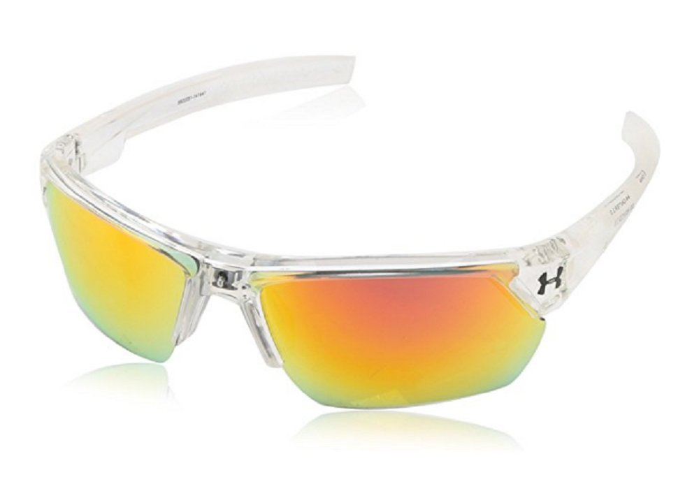 Under Armour アンダーアーマー スポーツサングラス Men's Igniter 2.0 Sunglasses Shiny Crystal Clear & Frosted Clear Rubber [並行輸入品]   B01MSMV0UD