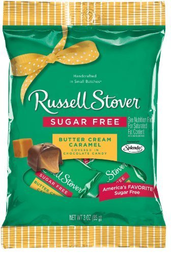 Russell Stover Sugar Free Peg Bag, 3-Ounce, Butter Cream Caramel, (Pack of 12) by Russell Stover (Sugar Russell Free Nutrition Stover)