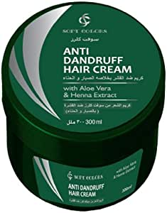 SOFT COLORS ANTI DENDRUFF HAIR CREAM WITH ALOE VERA HENNA EXTRACT 300 ML