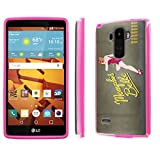 LG G Stylo [LS770 H631] Case, [NakedShield] [Hot Pink] DUO Shock Resistant Armor Case - [Memphis Belle] for LG G Stylo LS770 -  NakedShield for LG G Stylo