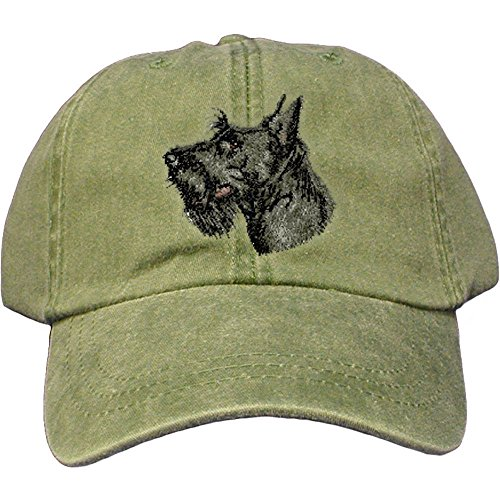 - Cherrybrook Dog Breed Embroidered Adams Cotton Twill Caps - Spruce - Scottish Terrier