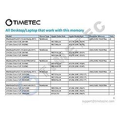 Timetec Hynix IC compatible with Apple 16GB Kit (2x8GB) DDR3L 1600MHz PC3-12800 SODIMM Memory Upgrade For MacBook Pro, iMac, Mac mini/Server