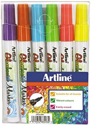 Artline Fine Glassboard – Rotuladores de colores (Pack de 6 ...