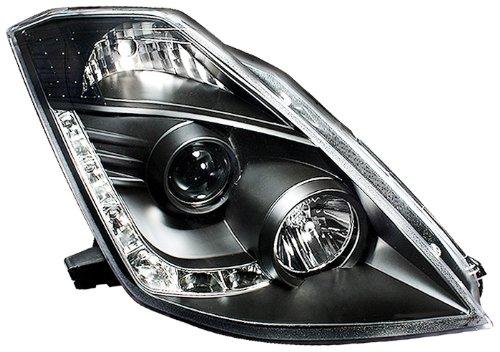 IPCW CWS-1120B2 Nissan 350Z 2006 - 2008 Head Lamps, Drl Projector With Hid Black   B00ECR9K6W